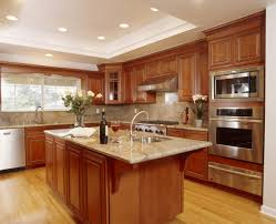 Kitchen Marble Top Gorgeous Wooden Kitchen Furniture Units With Beautiful Island Feat