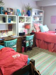 cool dorm design like the matching coral bedspreads cassidy