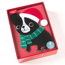 boxed christmas cards sale handmade dog with scarf boxed cards set of 8