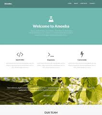 free one page bootstrap template u2013 amoeba bootstrapmade