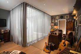 Linen Voile Curtain Fabric Curtains For Bifold Doors Window Treatments For Bifold Doors