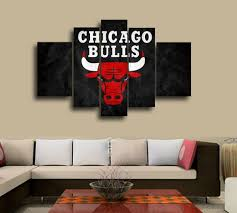 chicago bulls hand painted wall art canvas decoration abstract oil