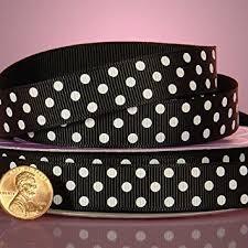 polka dot grosgrain ribbon black and white polka dots grosgrain ribbon 3 8 x 25yd