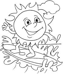 beach coloring kids coloring