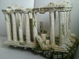 large ruins building aquarium ornament fish tank decoration