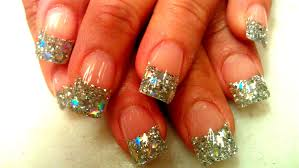 shining stars design acrylic nails step by step youtube