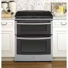 ge profile series 30 inch slide in double oven electric convection