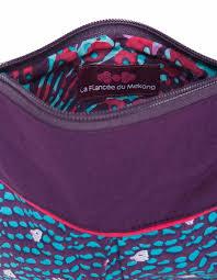 la fiancee du mekong achat en ligne sac bandouillière ilia en coton imprimé a pois bleu foncé la