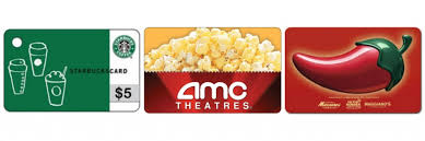 5 dollar gift cards free 5 gift card to amc starbucks chili s more