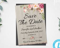 save the date invitation rustic floral save the date template rustic save the date