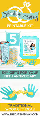 two year anniversary gift ideas fifth anniversary gift printable kit the dating divas