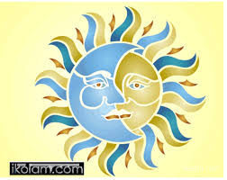 rangoli sun moon design regular ikolam com