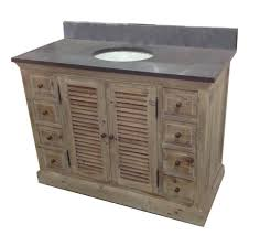 48 in bathroom vanity with top white marble without cabinet