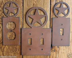 Western Moments Original Home Furnishings And Decor New Western Texas Star Outlet Switch Plate Cover Rustic Metal