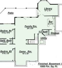 House Plans With Finished Basements Finished Basement Floor Plans Home Design Styles