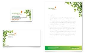 Mowing Business Cards Lawn Mowing Service Business Card U0026 Letterhead Template Design