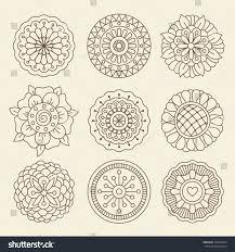 Morrocan Design Vector Floral Set Moroccan Design Graphic Stock Vector 432254584