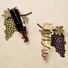 wine bottle home decor wine valley grapes metal wine rack with black cork holder wine