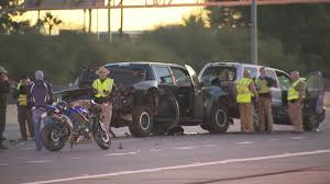 driver hurt in chain reaction crash stemming from motorcycle u0027s m
