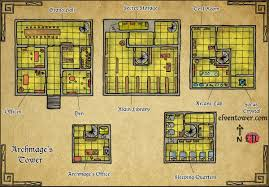 Dnd Maps Elven Tower U2013 Map 51 U2013 Archmage U0027s Tower Elven Tower