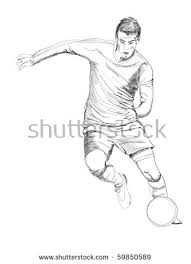 draw soccer player action stock illustration 530476822 shutterstock