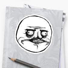 Me Gusta Face Meme - me gusta troll face meme stickers by eaaasytiger redbubble