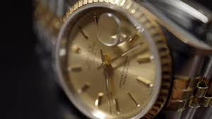golden rolex extreme close up of 18ct gold rolex oyster perpetual date 4k uhd