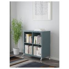 high gloss white bookcase kallax shelving unit on castors high gloss grey turquoise 77x89 cm