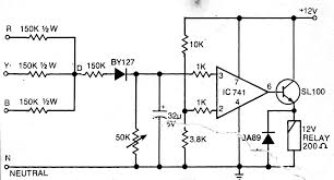 simplest single phase preventor circuit for three phase motor