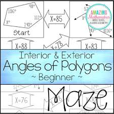 interior u0026 exterior angles of polygons maze beginner by amazing