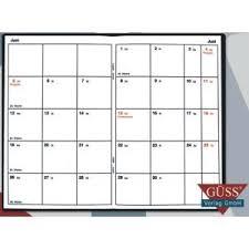 agenda sur bureau güss agenda civil 15 x 9 cm 1 mois sur 2 pages avec calendrier