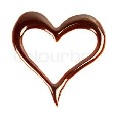 heart chocolate chocolate heart isolated on white background stock photo colourbox