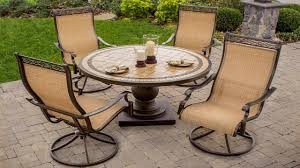 metal patio furniture set outdoor swivel rockers patio furniture 5 piece high back sling