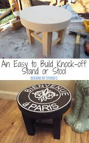 how to create a diy ballard designs knock off stand or stool