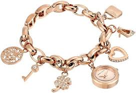 rose gold bracelet charm images Anne klein women 39 s swarovski crystal accented rose jpg