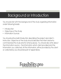 feasibility study template free download