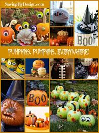 Halloween Pumpkin Decorating Ideas Pumpkin Decorating Ideas For Halloween Saving By Design