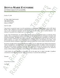 teaching cover letter with experience full image for teacher