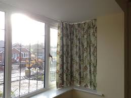 curtain track in square bay window livingroom pinterest