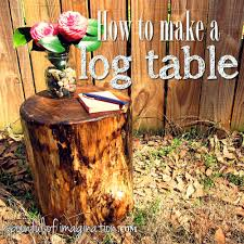 How To Make A Wood End Table by How To Make A Log End Table