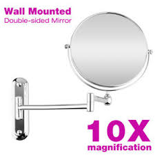 bathroom shaving mirrors wall mounted 10x magnification wall mounted cosmetic makeup mirror bathroom