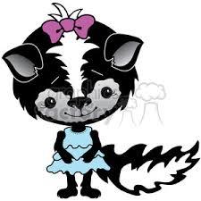 royalty free skunk 1 color 387323 vector clip art image eps