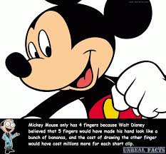 mickey mouse 4 fingers unreal facts