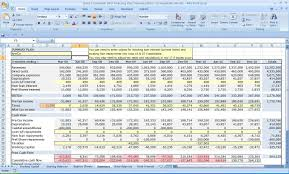 excel three year cash flow plan within financial business plan