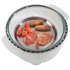 vonshef halogen oven accessories extender ring steamer tray