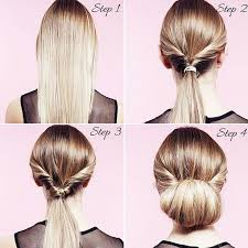 step by step hairstyles for long hair with bangs and curls how to do a twisted bun up do in 5 easy steps twist bun hair