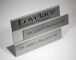 Desk Signs For Office Replacement Inserts Interchangeable Insert Name Plates Doctors