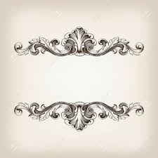 vintage border frame filigree engraving with retro ornament