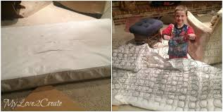 How To Make A Crib Mattress Diy Upholstered Bench My 2 Create