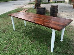 Western Red Cedar Outdoor Furniture by Handmade 8 Ft Western Red Cedar Farm Table With Chalk Paint Base